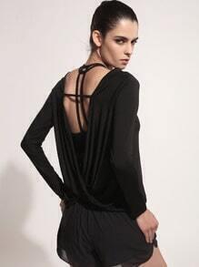 Camiseta de espalda drapeada twist