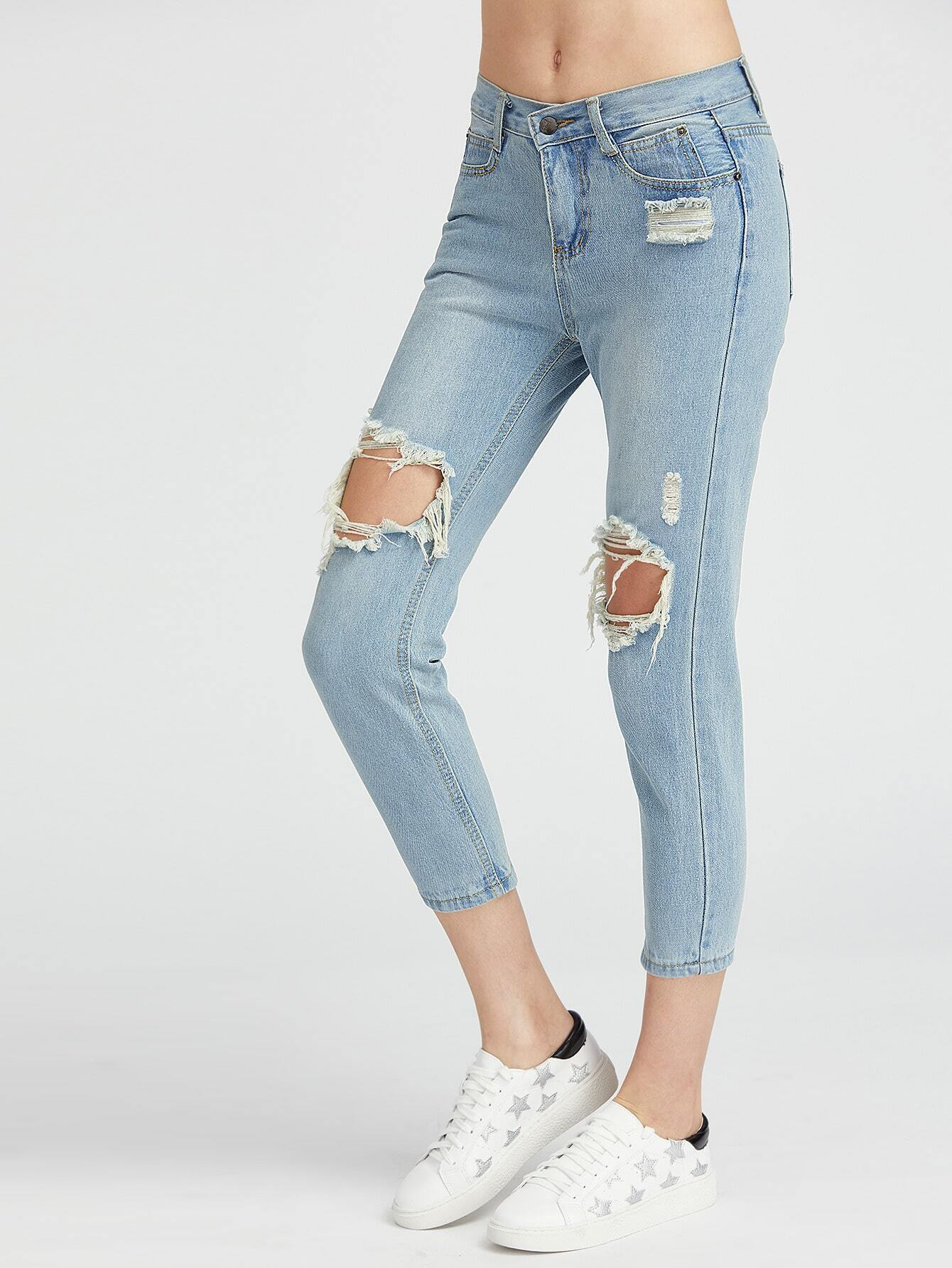 Destroy Washed Sheath Jeans