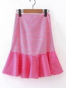 Ruffle Hem A Line Skirt