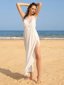 Decke Kleid mit Häkeln Einlegen und Spalten