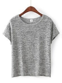 Heather Grey Batwing Sleeve Tee