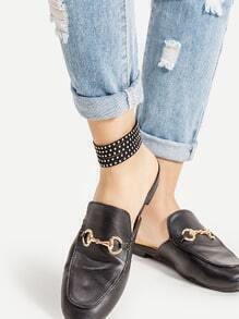 Studded Embellished Velvet Anklet
