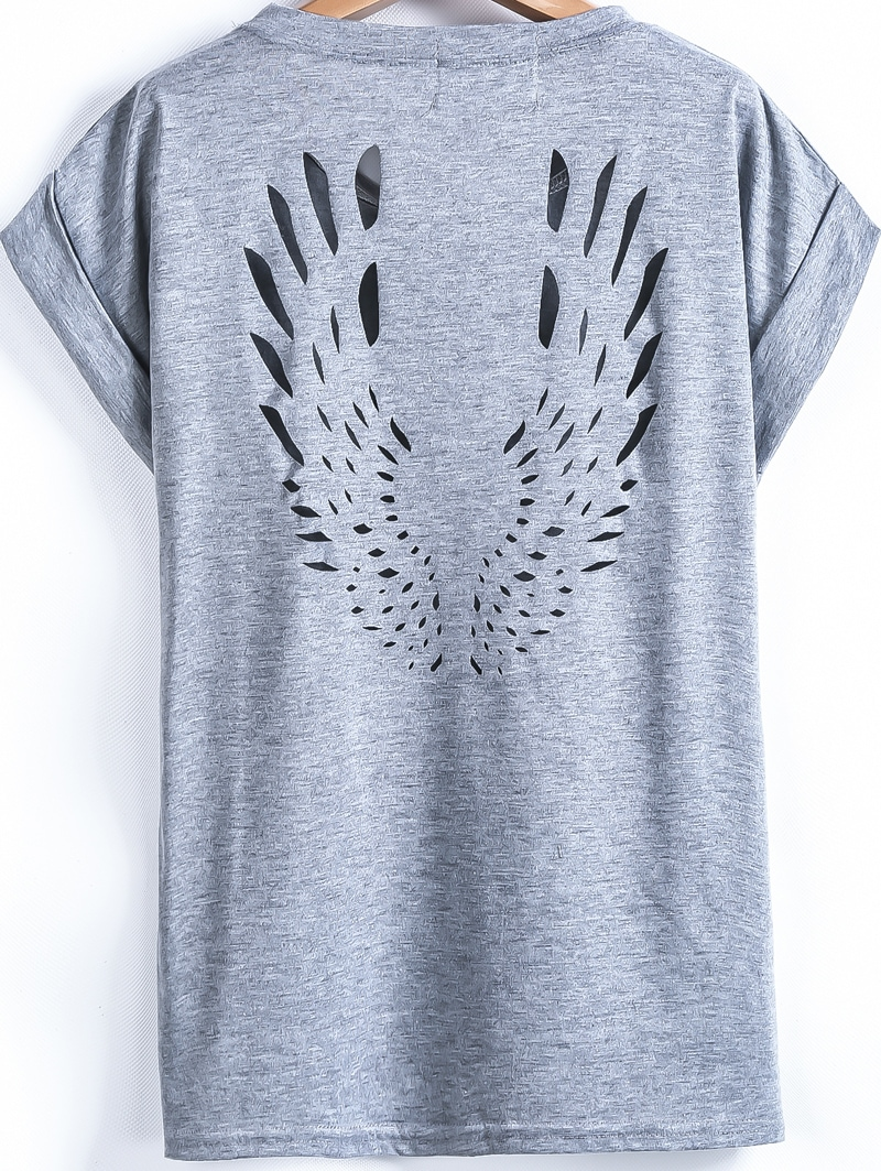 Letters print grey t shirt for Shirt lettering near me