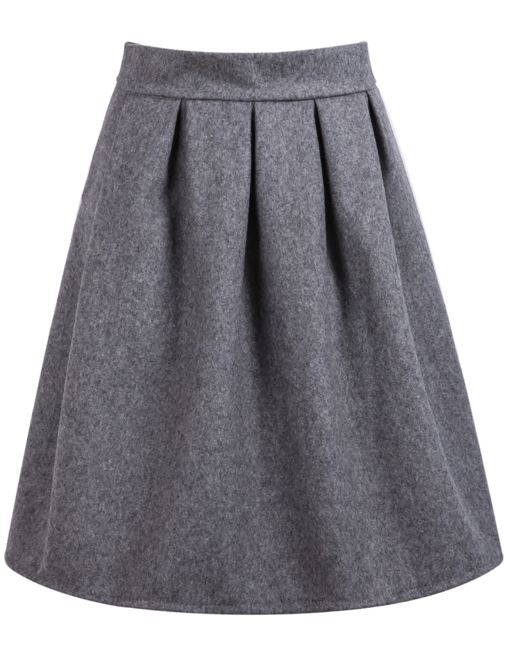 High Waist Wine Grey Skirtfor Women Romwe