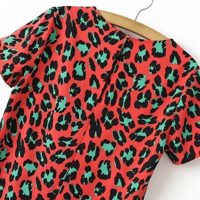 Leopard Print Straight Dress