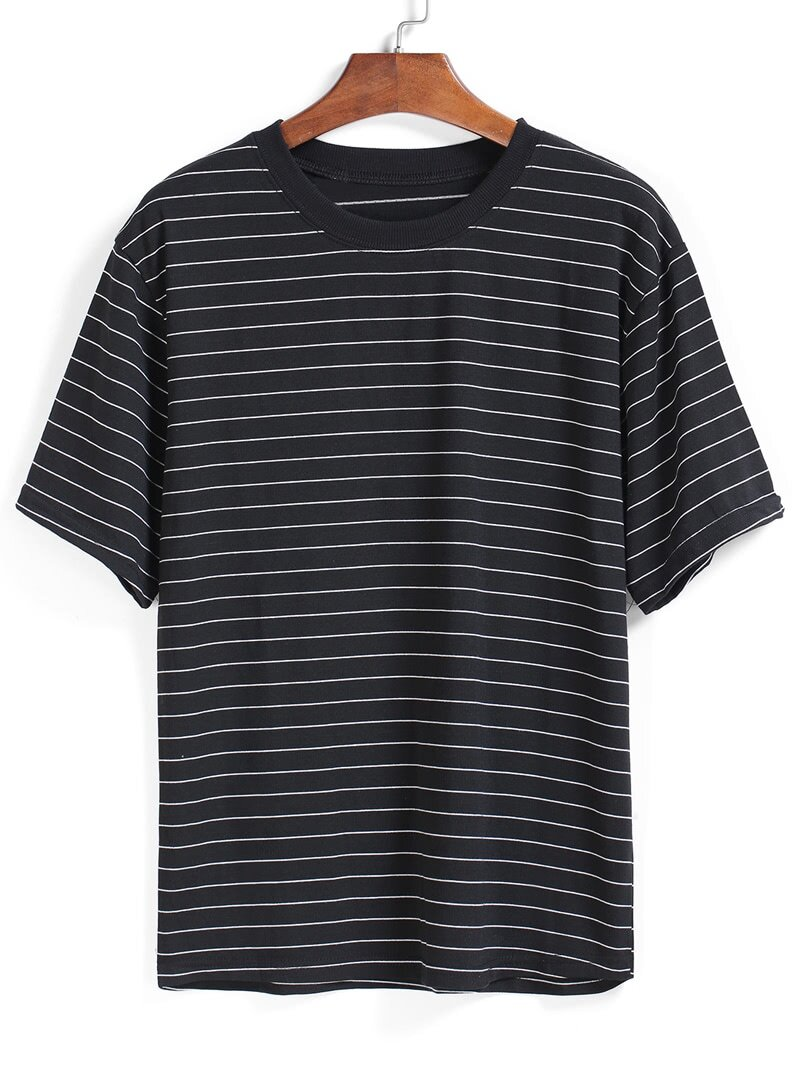 Gray Shoes Black T Shirt