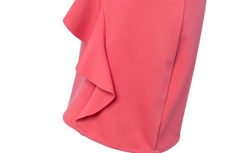 Robe epaule denudee evasee amincissante rouge french romwe for Robe rouge évasée