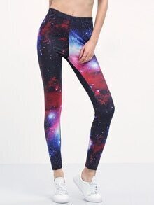 Galaxy Print Slim Leggings
