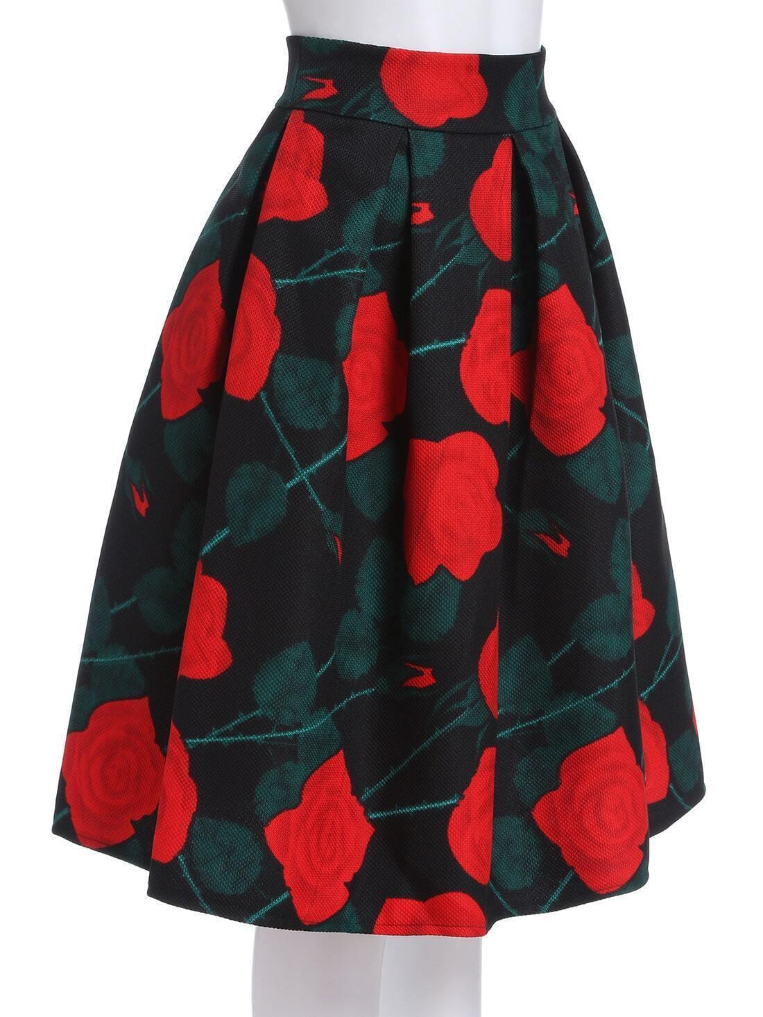 Rose Print Skirt 19