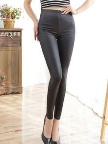 High Waist Slim Black Leggings