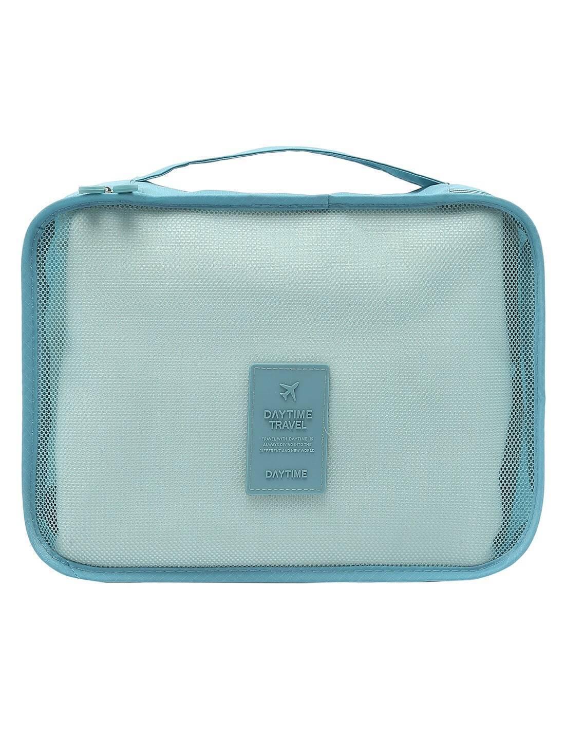 multifunktionale tasche set mit rei verschluss azurblau german romwe. Black Bedroom Furniture Sets. Home Design Ideas