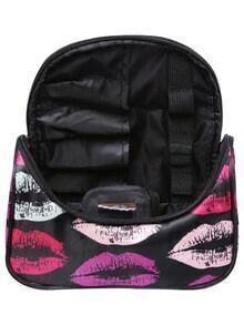 Lipstick Print Zipper Makeup Bag