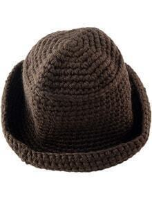 Coffee Flange Knit Hat