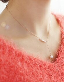 Gold Plated Imitation Pearl Necklace