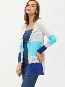 Colour-block Slim Sweater Coat