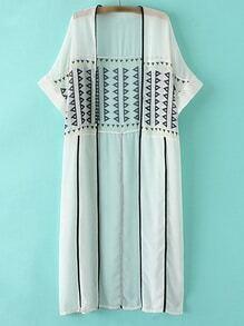 Multicolor Short Sleeve Print Cardigan Outerwear