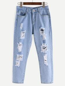 Ripped Light Blue Jeans
