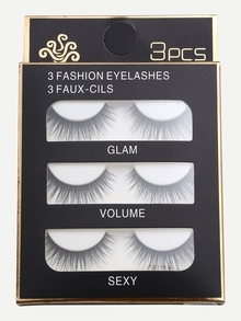 Natural Long Straight False Eyelashes