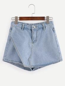 Light Blue Denim Skirt Pants