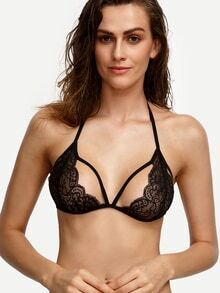 Black Strappy Lace Bralet
