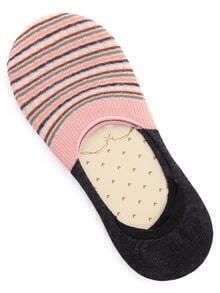 Multicolor Striped Cotton Boat Socks