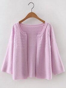 Jersey estilo cárdigan - rosa