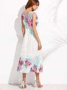 robe en mousseline imprime fleuri avec franges blanc With tapis chambre bébé avec robe imprimé fleuri zara
