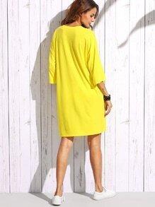 Yellow t-shirt dress