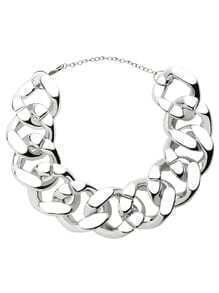 Silver Oversized Curb Chain Necklace