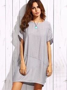 Grey Oversized Binding Dress