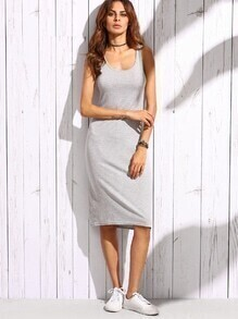 Heather Grey Tank Dress