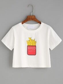 White French Fries Print T-shirt