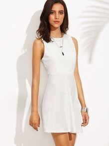 White Racerback A Line Dress