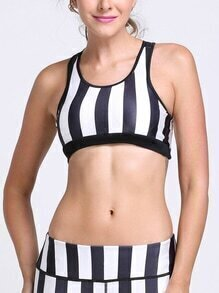 Contrast Striped Sports Bra