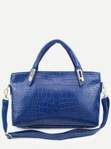 Blue Crocodile Embossed 3PCS Bag Set