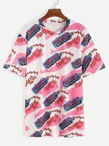 Multicolor Toothpaste Print T-shirt