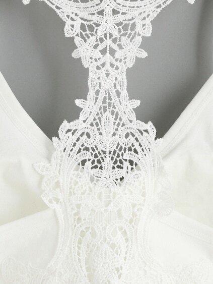 White Crochet Racerback Bralet