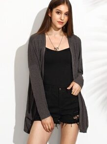Heather Grey Drop Shoulder Cardigan