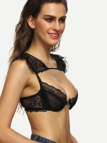 Black Tie Back Cutout Lace Bralet