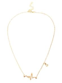 Halskette mit EKG besetzt - gold