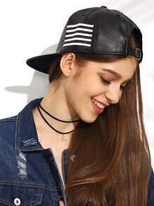 Black And White Stripe Hip Hop Baseball Cap