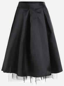 Black A Line Skirt With Zipper