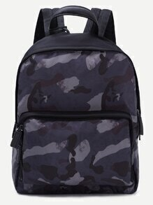 Blue Camouflage Nylon Backpack