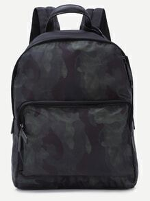 Green Camouflage Nylon Backpack