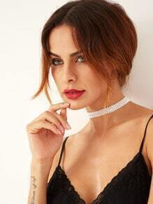 White Simple Thin Choker Necklace