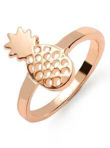 Gold Hollow Out Pineapple Ring