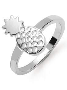 Silver Hollow Out Pineapple Ring