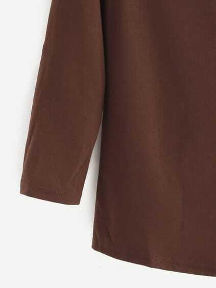 Khaki Criss Cross Raglan Sleeve T-shirt
