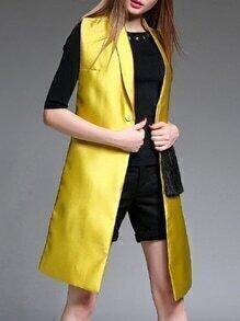 Yellow Tassels Polka Dot Vest