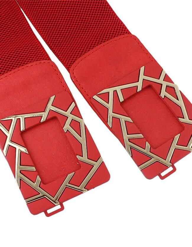 Ceinture creux lastique rouge french romwe for Interieur paupiere inferieure rouge